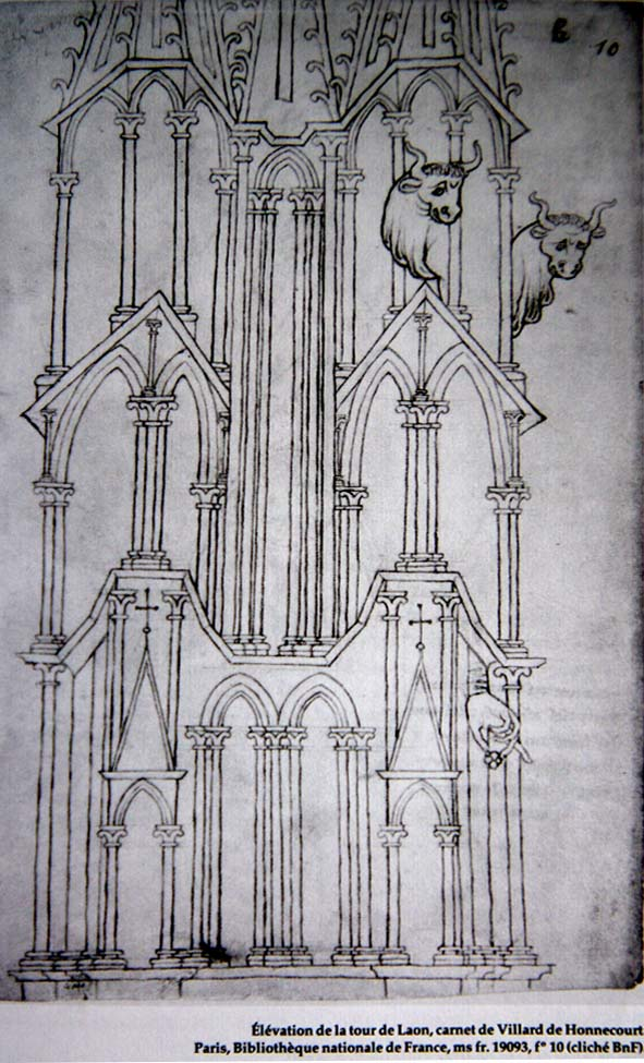 planche extraite de l'ouvrage : la sculpture de la façade de la cathédrale de Laon, op.cit.
