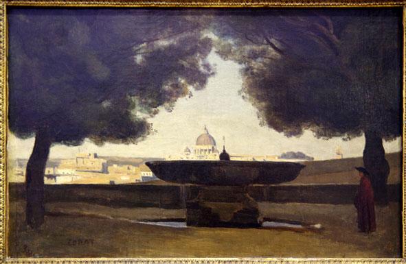 Corot, Vasque de la Villa MedicisW