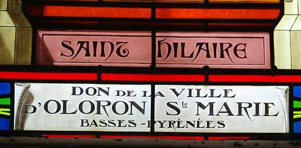 vitrail figurant saint Hilaire