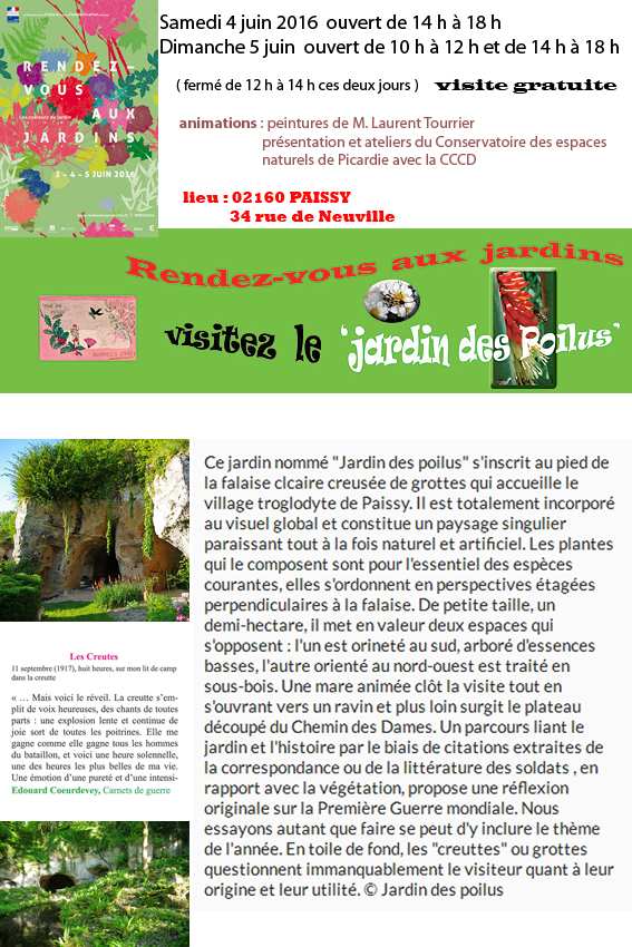 Jardin des Poilus 2016