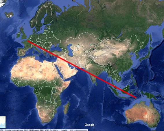 localisation approximative des lieux cités dans l'article