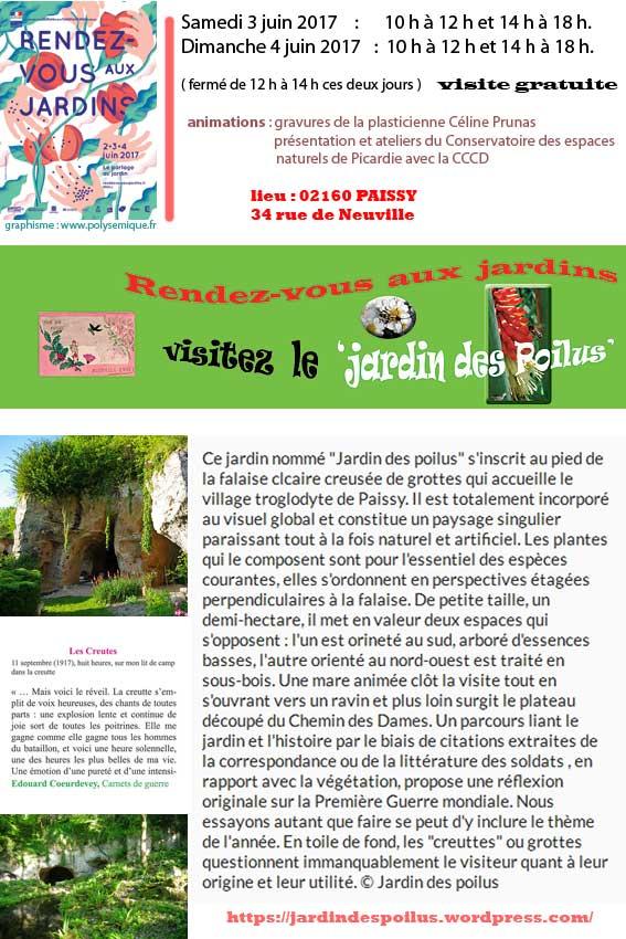 Jardin des Poilus à Paissy